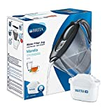 BRITA Marella Water Filter, Compatible with BRITA MAXTRA+ Cartridges, Water Filter that Helps with the Reduction of Limescale and Chlorine, in Graphite
