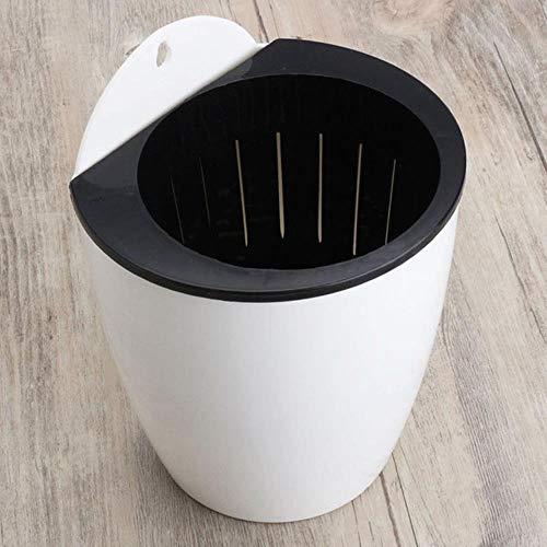 XMWW Maceta de riego automático Maceta de Planta automática Colgante Plantadora de Pared de plástico Cesta Mesa de Escritorio Piso Jardín Oficina Hogar, Blanco, diámetro 130 mm