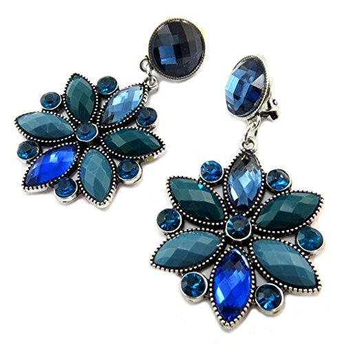 Les Trésors De Lily [P3567] - Clips Créateur 'Sissi' bleu argenté