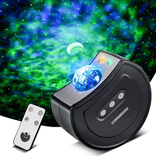 Galaxy Star Projector, Night Light Projector with Remote Control, Movable Nebula Projector for Kids Bedroom Night Light for Home by HDJUNTUNKOR, Party or Mood Lighting Ambiance 16 Modes (Grey)