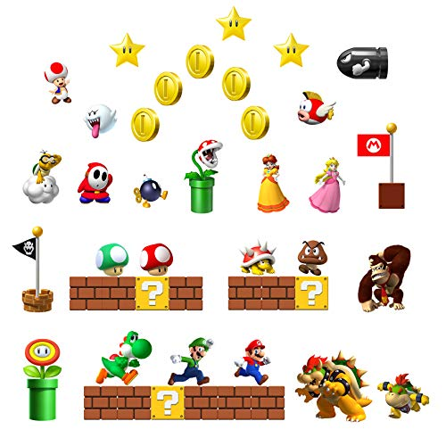 Mario Fridge Magnets - 42 PCS Refrigerator Magnets,Office Magnets,Calendar Magnet,Whiteboard Magnets,Christmas Magnets,Perfect for Ornaments Decoration collectionism
