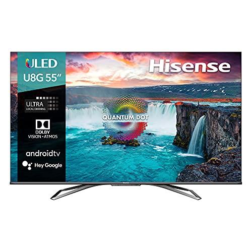 Hisense 55' ULED U8 Premium Dolby Vision, Android TV 4K +Dolby Atmos y Game Mode 55U8G (2021)