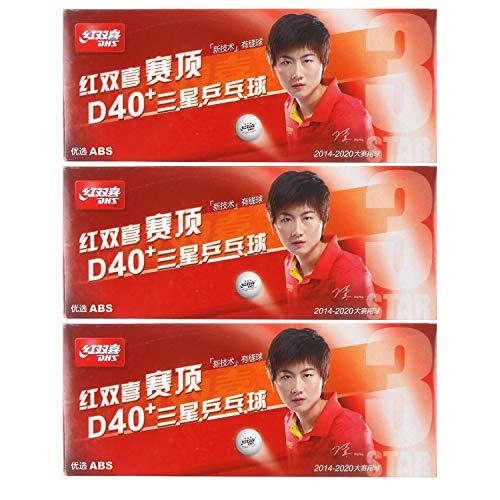DHS ABS D40 3Star White Table Tennis Balls 30 Balls