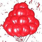 Globos Rojo,Globos de Cumpleaños Globos de Fiesta de Diversos Colores Globos metálicos brillantes,Globo Látex Metálic (Rojo)
