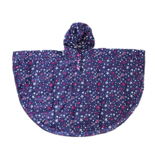 usure de la pluie pour enfant mignon bébé Veste de pluie imperméable pour bébé Bleu étoiles S (80–100 cm)