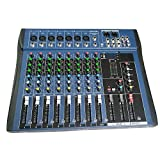Justdodo CT8 8 canaux Mixeur stéréo Professionnel Live USB Studio Audio Console Son Processeur d'Effet Vocal pour Dispositif d'ancrage réseau-Noir