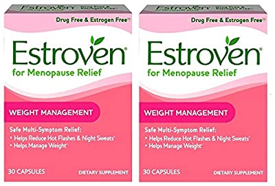 Estroven Weight Management - Multi-Symptom Menopause Relief* – With Ingredients to Help Reduce Hot Flashes and Night Sweats* - 30 Capsules - Pack of 2 from Estroven