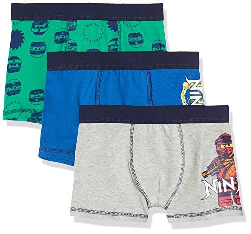LEGO Jungen cm Ninjago Boxershorts, Mehrfarbig (Dark Blue 575), (Herstellergröße:140) (3er Pack)