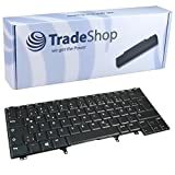 Trade Shop Laptop Tastatur Notebook Keyboard Ersatz Deutsch QWERTZ für Dell Latitude E5430 E6430 E6440 E6430u E6430S E5420M E6420ATG (Deutsches Tastaturlayout)