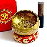 Bol Chantant Tibétain Fait Main au Népal 450g Original Ancien 7 Métaux Excellente...