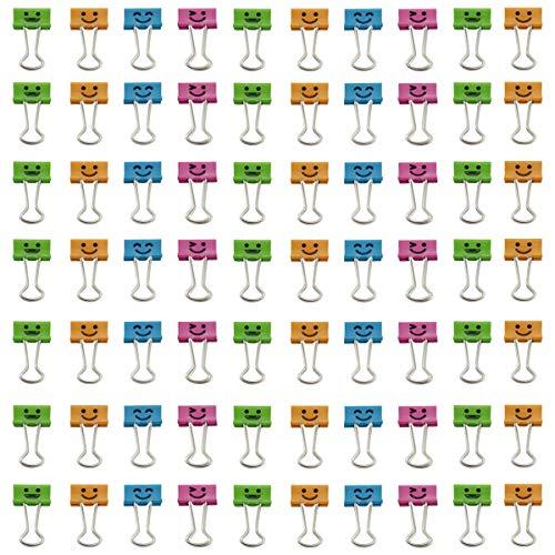TKOnline Smiling Binder Clips,19mm,Assorted Colors, 72 Clips Binder Clips Office Clips Color Binder Clip in Clips Office Products Assorted Colors Office Binder Binder Clips Assorted