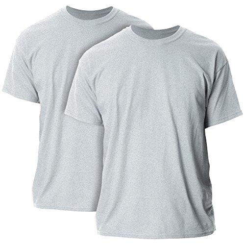 Gildan Men's Ultra Cotton T-Shirt, Style G2000, 2-Pack, Sport Grey, 2X-Large