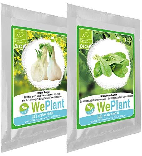 BIO Fenouil bulbeux & Oseille - Graines de plantes aromatiques/Intérieur & Extérieur
