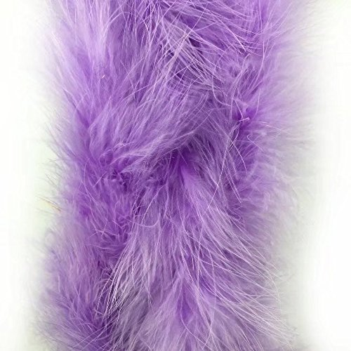 Celine lin 1PC 2yards/Length Dyed Fluffy Feather Boa Loose Turkey Marabou Feather for Party/Costumes/Shawl/Wedding/Home Decorations,Light Purple