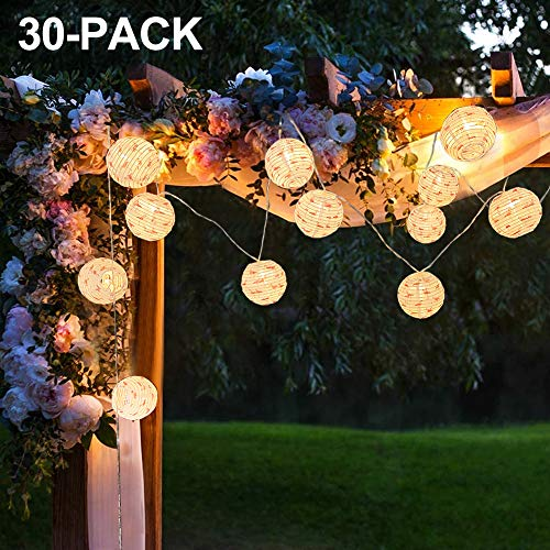 Battery Powered 20′ Long Round Outdoor LED Lantern String Lights $13.65 (38% Off)