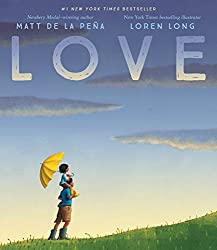 Image of the picture book Love by Matt de la Pena with link to purchase through Amazon