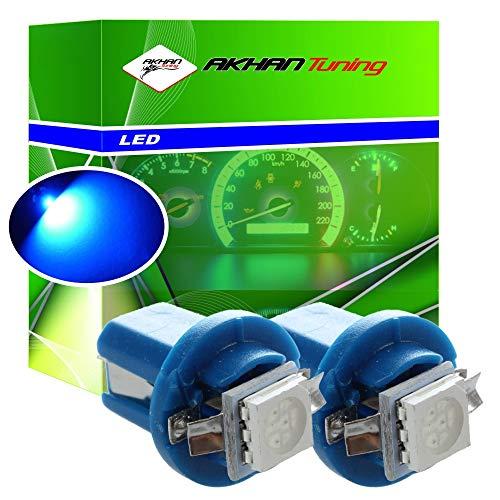 Akhan 85B - LED Ampoule Lampe voiture auto Blue T5 B8.5D BAX10D 12V tachymètre instrument d'éclairage
