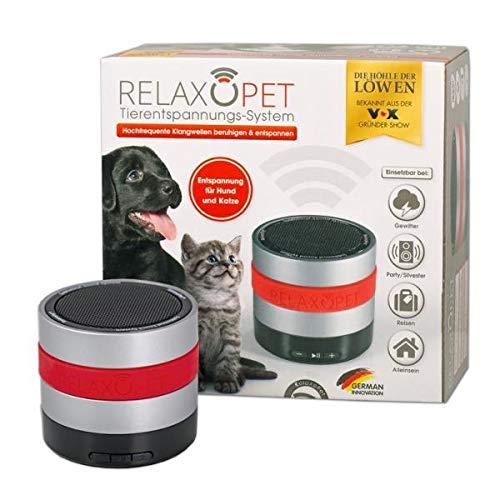 RelaxoPet Tierentspannungs-Trainer | Die Höhle der Löwen | Für Hund & Katze | Beruhigung durch Klangwellen | Ideal bei Gewitter, Feuerwerk oder auf Reisen | Hörbar und unhörbar