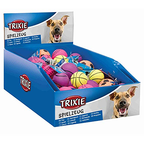 TRIXIE 3460 Softbälle, Neon, Gummi, 3,5 x 4,5 cm, 52 Stück