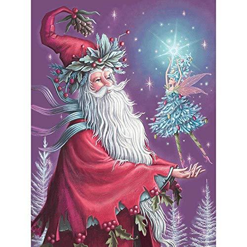 ymxwmy Kit de Pintura de Diamante de Papá Noel y Bailarina, Diamante...