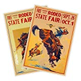 Set of Two (2) Rodeo State Fair Poster...