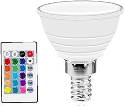Yililay LED RGB-spot licht kleurverandering dimbare lampen met afstandsbediening sfeerlamp (beige kleur)