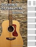 CUADERNO DE TABLATURAS PARA GUITARRA: perfecta para músicos, guitarristas, estudiantes de guitarra española, eléctrica o acústica, profesores de ... A4 - 110 páginas con 7 tablaturas por página