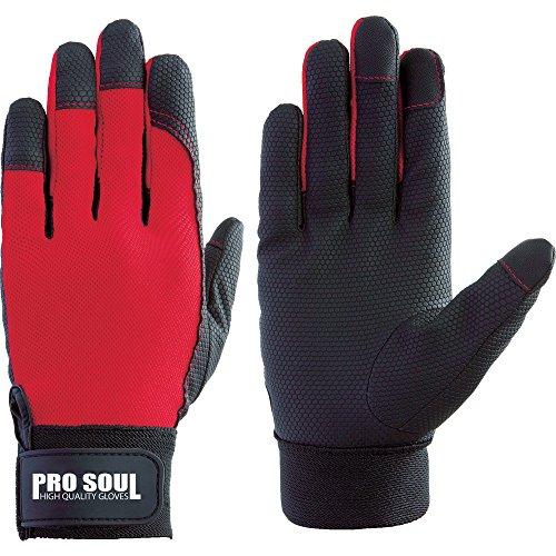 富士グローブ PS-992 赤 3L プロソウル 指先補強 7530 合皮手袋