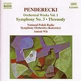 Penderecki: Symphony No. 3 / Threnody