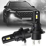 OPL5 H7 Ampoules de phare à LED Mini Design Puces améliorées Feux de brouillard 12000 Lumen 40W 6000K Xenon Blanc IP68 Étanche All-in-One Plug and Play Kit de conversion de phare LED(2pcs)