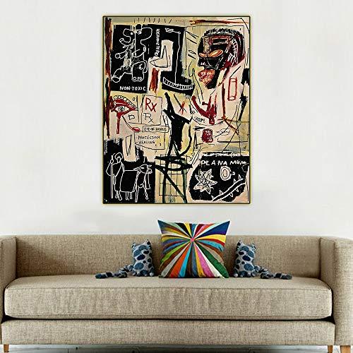 SIRIUSART Jean Michel Basquiat 《Schmelzpunkt des Eises》 Graffiti Kunst Leinwand Wandkunst Wohnkultur 30x40cm 12