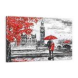 Cuadro sobre lienzo - Impresión de Imagen - Londres arquitectura ben grande - 120x80cm - Imagen Impresión - Cuadros Decoracion - Impresión en lienzo - Cuadros Modernos - AA120x80-3153