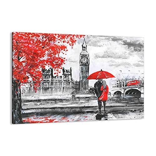Cuadro sobre lienzo - Impresión de Imagen - Londres arquitectura ben grande - 100x70cm - Imagen Impresión - Cuadros Decoracion - Impresión en lienzo - Cuadros Modernos - AA100x70-3153
