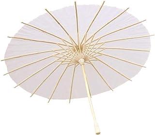 STOBOK sombrilla de Papel Paraguas Paraguas de Papel japonés Chino para la decoración del Banquete de Boda Pintura de la Mano Uso DIY Craft Photo Prop - 50 cm