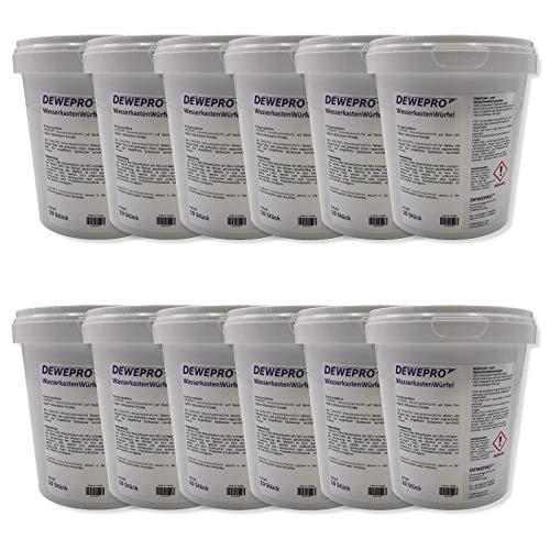 DEWEPRO WasserkastenWürfel 12 Dosen à 10 Stück - für den Spülkasten vieler Hersteller (z.B. Geberit, Sanit) mit Einwurfschacht