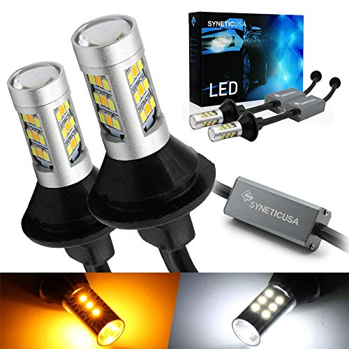 Syneticusa 7443 Error Free Canbus Ready Dual Color Switchback LED Turn Signal Light Bulbs DRL Parking Lamp No Hyper Flash All in One