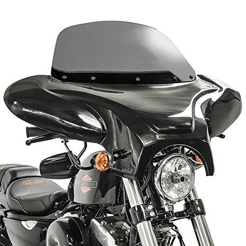 Batwing Windschild Kompatibel für Suzuki Intruder VL 800 Volusia Verkleidung rauchgrau