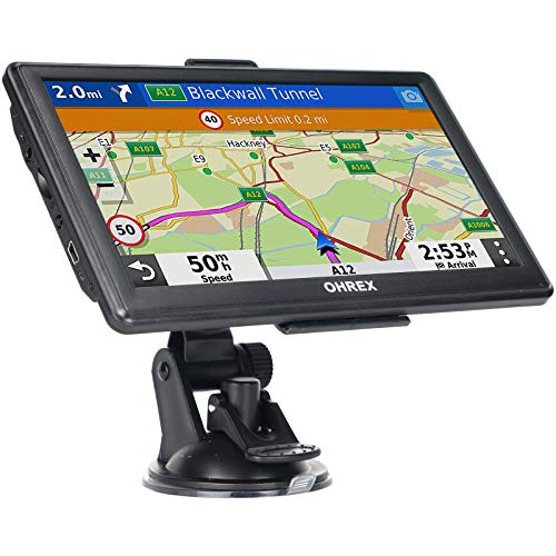OHREX Sat Nav, 7 inch with 2021 UK Ireland Maps (FREE Lifetime...