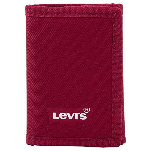 Levi's Batwing Trifold Wallet, Accessori da Viaggio-Portafogli Tri-Fold Uomo, Regular Red, Un