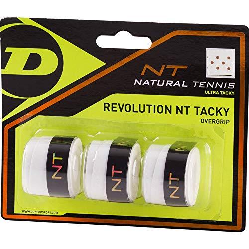 Dunlop Over Grip Revolution NT Tacky 3 Unidades, Color Blanco, One ...
