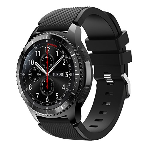 Angersi Silicone Souple Sport Bracelet Replacement Bands Compatible avec Samsung Gear S3 Frontier/Gear S3 Classic/Galaxy Watch 46mm/Galaxy watch3 45mm Smartwatch
