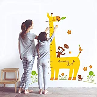 Baby Growth Chart Sticker, Animal Wallpaper Stickers Measuring Rulers for Boys Girls Room Decoration, Baby Height Measure ...