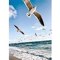 海辺の 風景 DIY 5D ペイントダイヤモンド のフルスクエア/ラウンドダイヤモンド刺繍モザイク クロスステッチ ホームデコレーション40X50 Eを