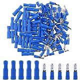 Hilitchi 50Pcs 16-14 Gauge Insulated Male / 50Pcs Female Bullet Quick Splice Wire Terminals Wire Crimp Connectors Set (Total 100Pcs)