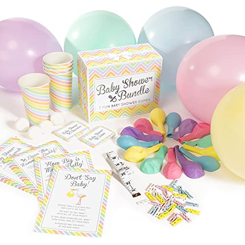Baby Shower Bundle - 7 Hilarious Baby Shower Games (classy party games pack...