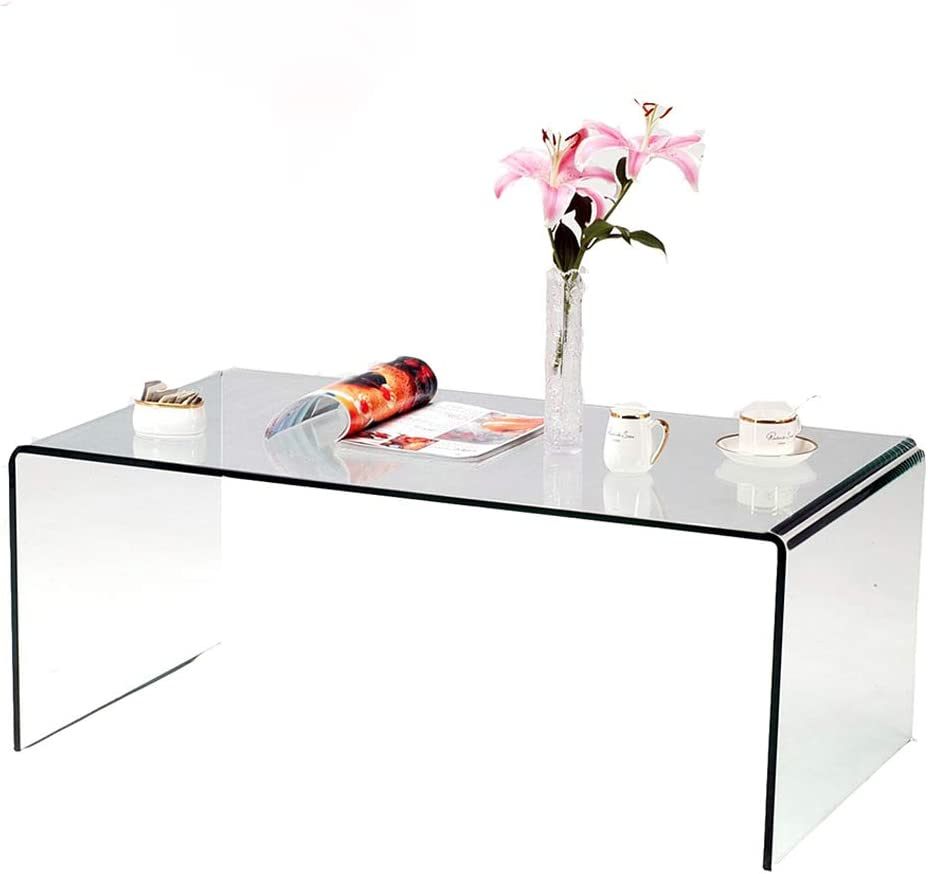 SMARTIK 1 2 Sale special price Inch Thicken Tempered Coffee Tables Modern Max 55% OFF Glass De