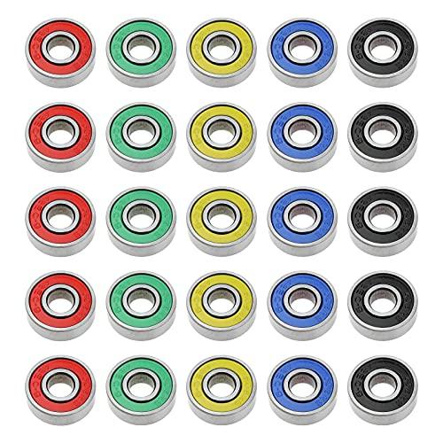 ABEC-9 rodamientos deslizantes 608 2RS acero al carbono para tabla de ruedas, patines de ruedas, scooters motores, amoladoras angulares, taladros, 8 x 22 x 7 mm