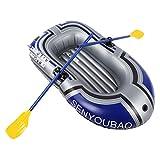 Bote Hinchable, Bote Hinchable, Kayak Plegable de Doble Válvula, con Dos Soportes de Tabla de Remo para Pesca con Bomba Infladora Vela