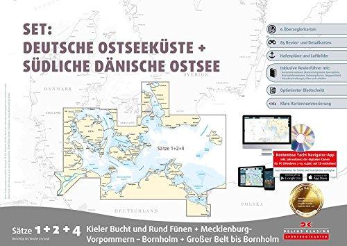 Sportbootkarten Satz 1, 2 und 4 – Set: Deutsche Ostsee und Südliche Dänische Ostsee (Ausgabe 2018)