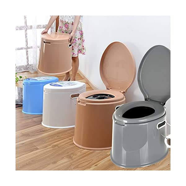 Crystals 6L Large Portable Compact Toilet Potty Loo for Camping Pool Caravan Picnic & Festivals